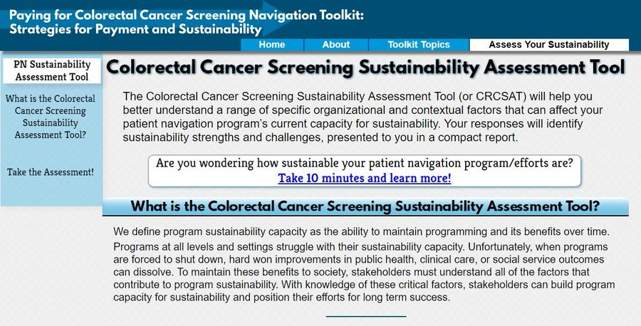 06-28-2019-NCCRTNews-80in-Every-Community-Colorectal-Cancer-Screening-Sustainability-Assessment-Tool